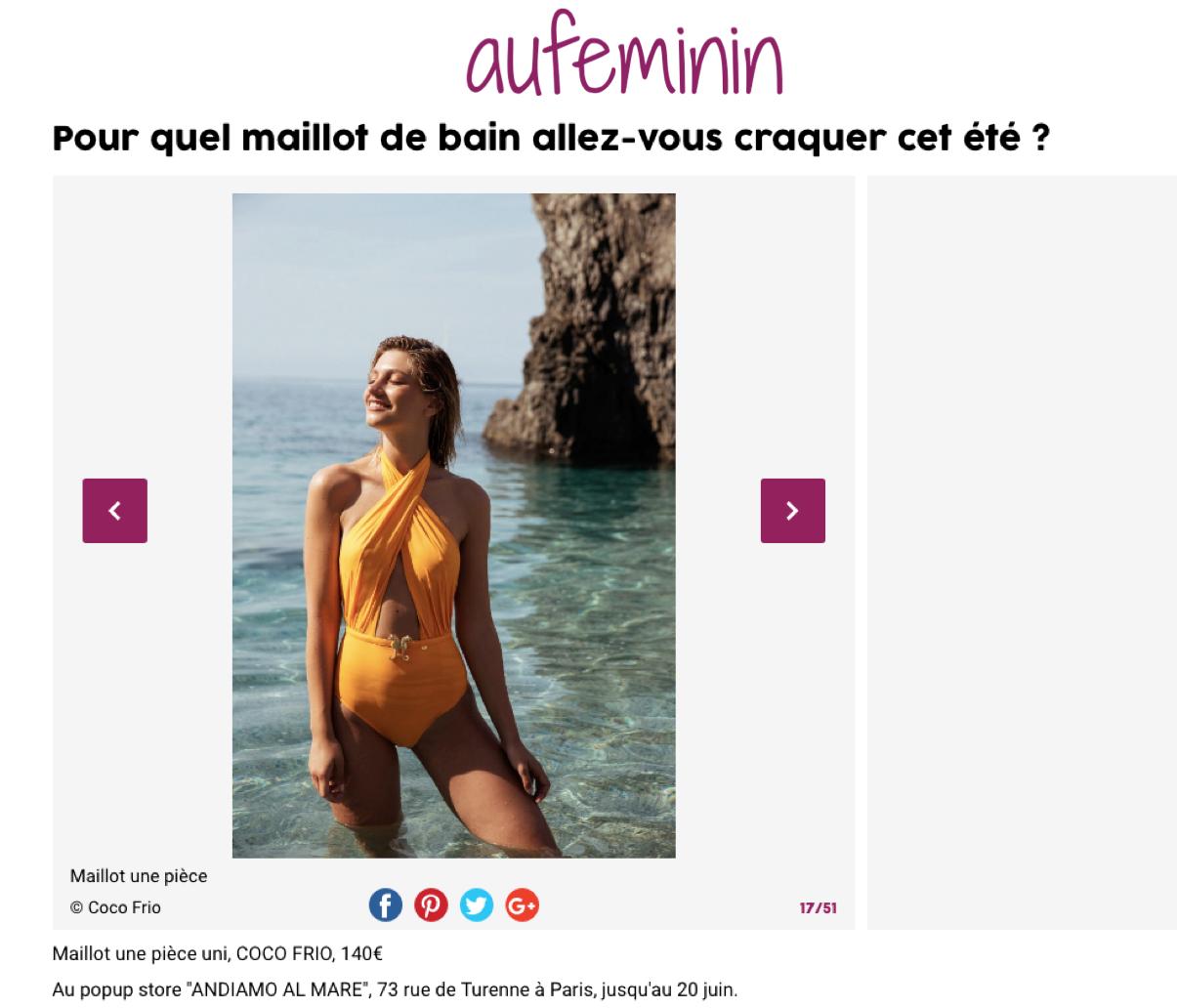 AU FEMININ.COM -COCO FRIO -31.05.18