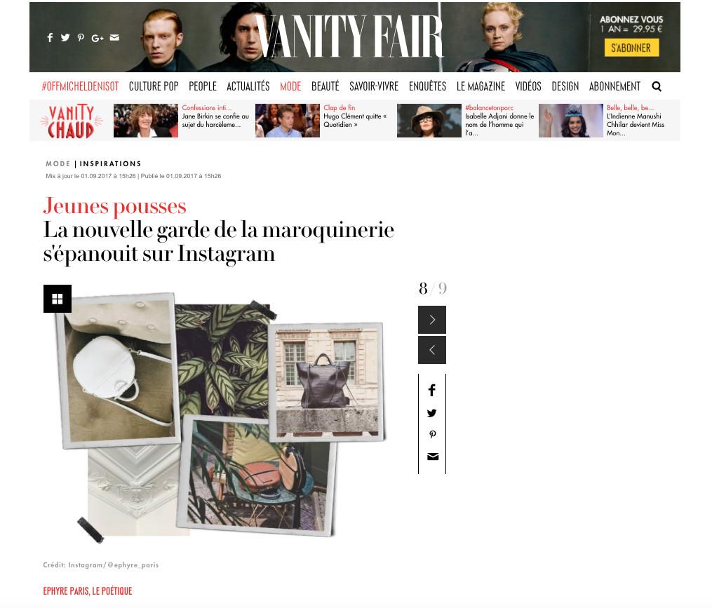 VANITY FAIR - EPHYRE 01.09.17