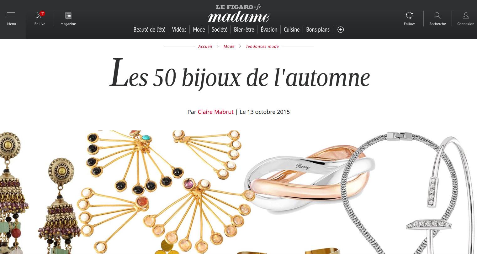 Le Figaro Madame Les 50 bijoux de l'automne