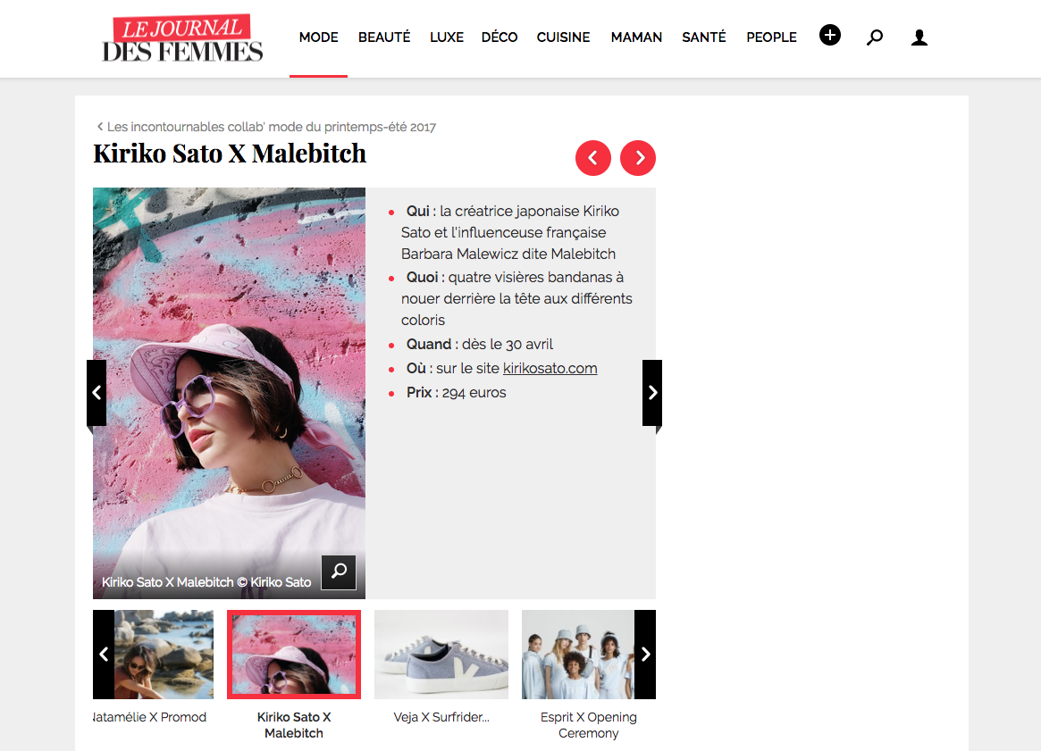 Le journal des Femmes -Kiriko Sato x Malebitch