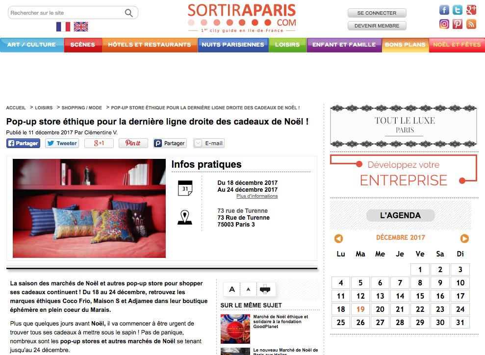 SORTIR A PARIS - POP UP COCO FRIO : CDLN